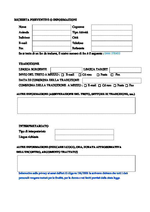 Preventivo clicca qui per vedere duesempio with for Preventivo impianto elettrico pdf